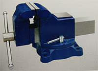american bench vise swivel base with anvil  three side machined