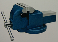 light duty bench vise stationary without anvil