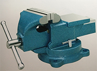 light duty bench vise swivel with anvil