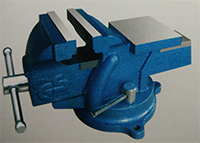 vpa gs approved bench vise swivel base with anvil